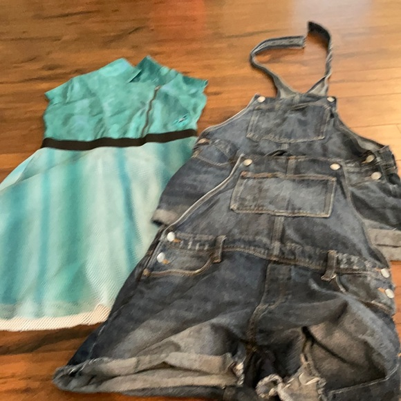 Girls 16/18 plus overall and dress bundle